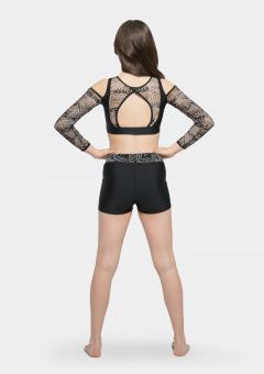 aztec shorts black
