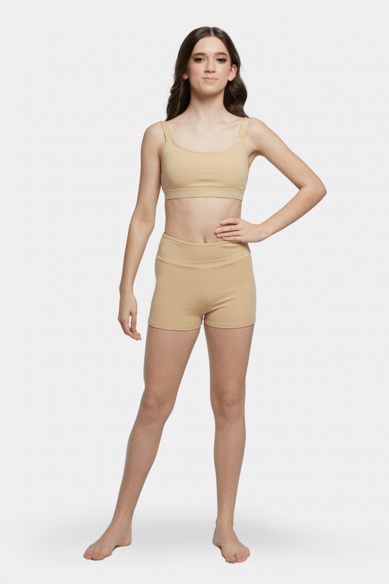 performance crop top nude