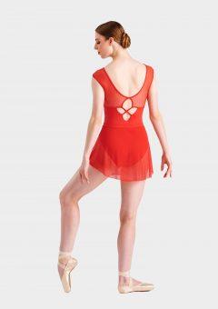 mini ballet skirt red