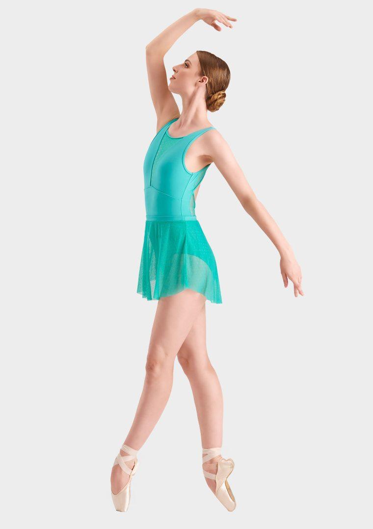 mini ballet skirt turquoise