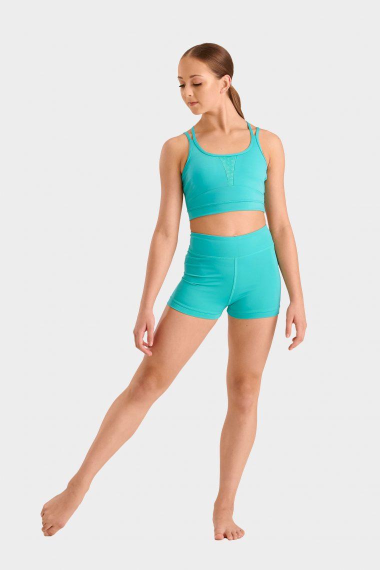 dance crop top turquoise