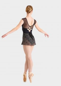 black red ballet skirt