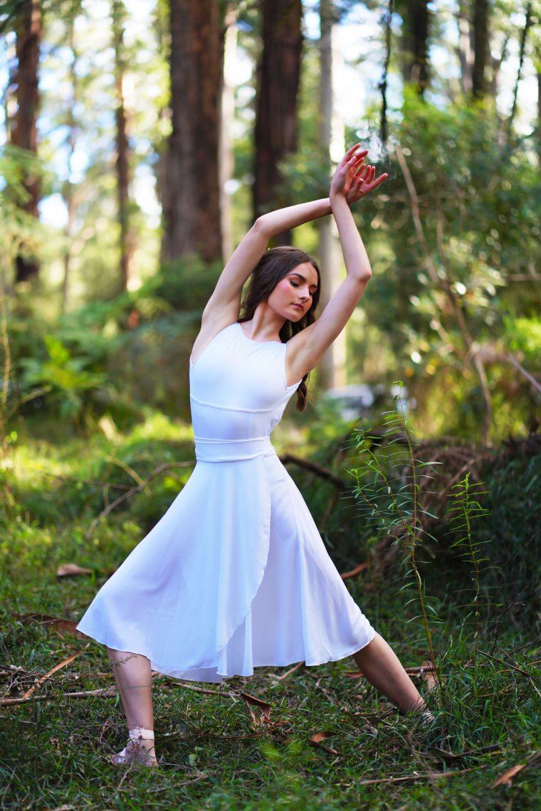 lucia skirt white