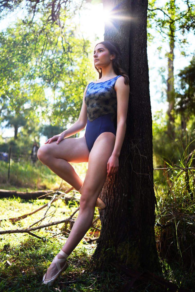 sophia velvet leotard paris blue