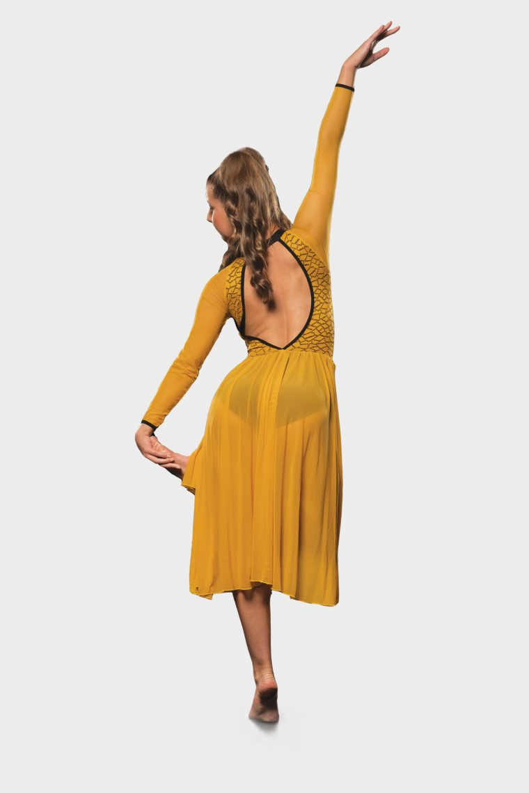 charlie dress mustard