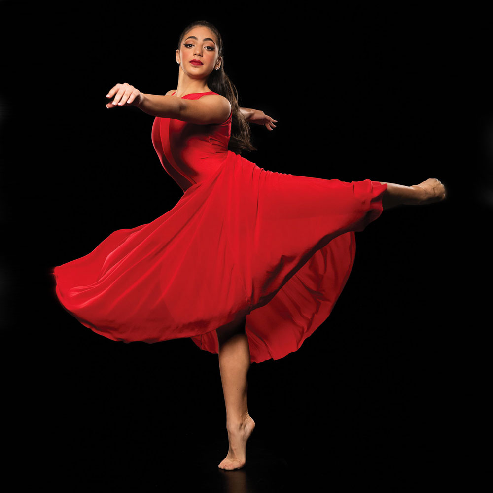 skylar lyrical dress red